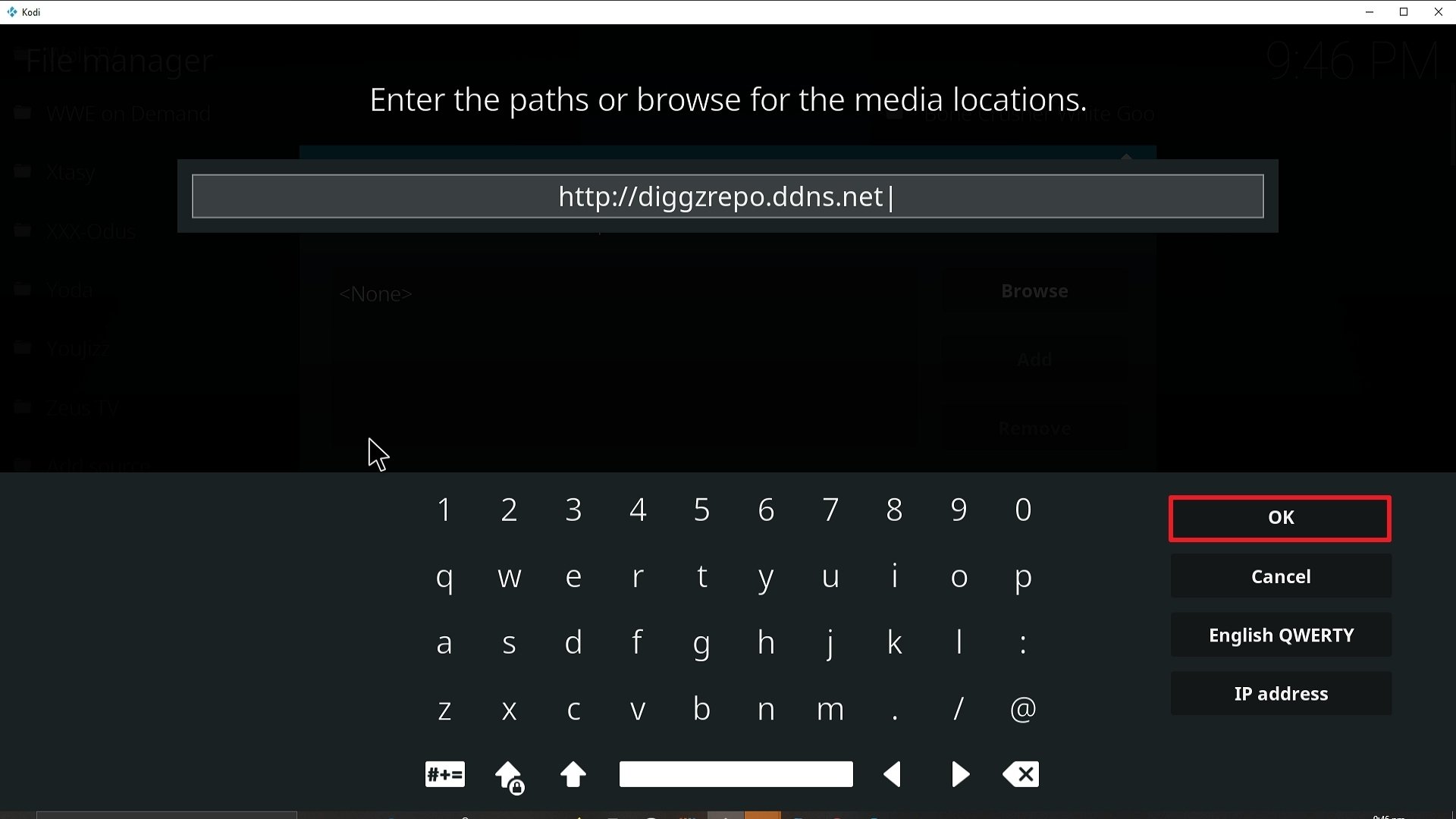 Step 10 Installing Diggz Xenon addon on Kodi