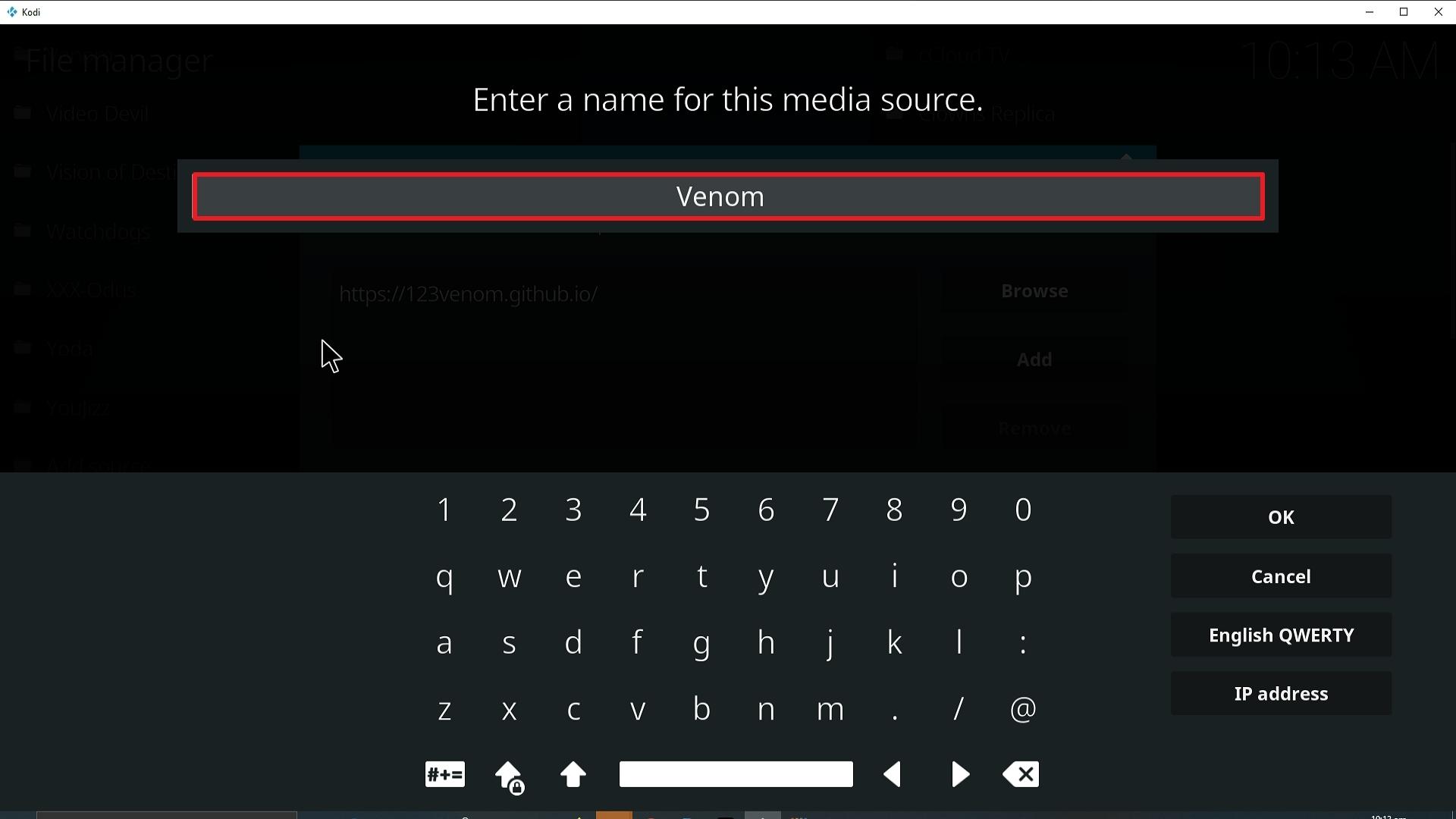 Step 12 Installing Venom Kodi addon on Kodi