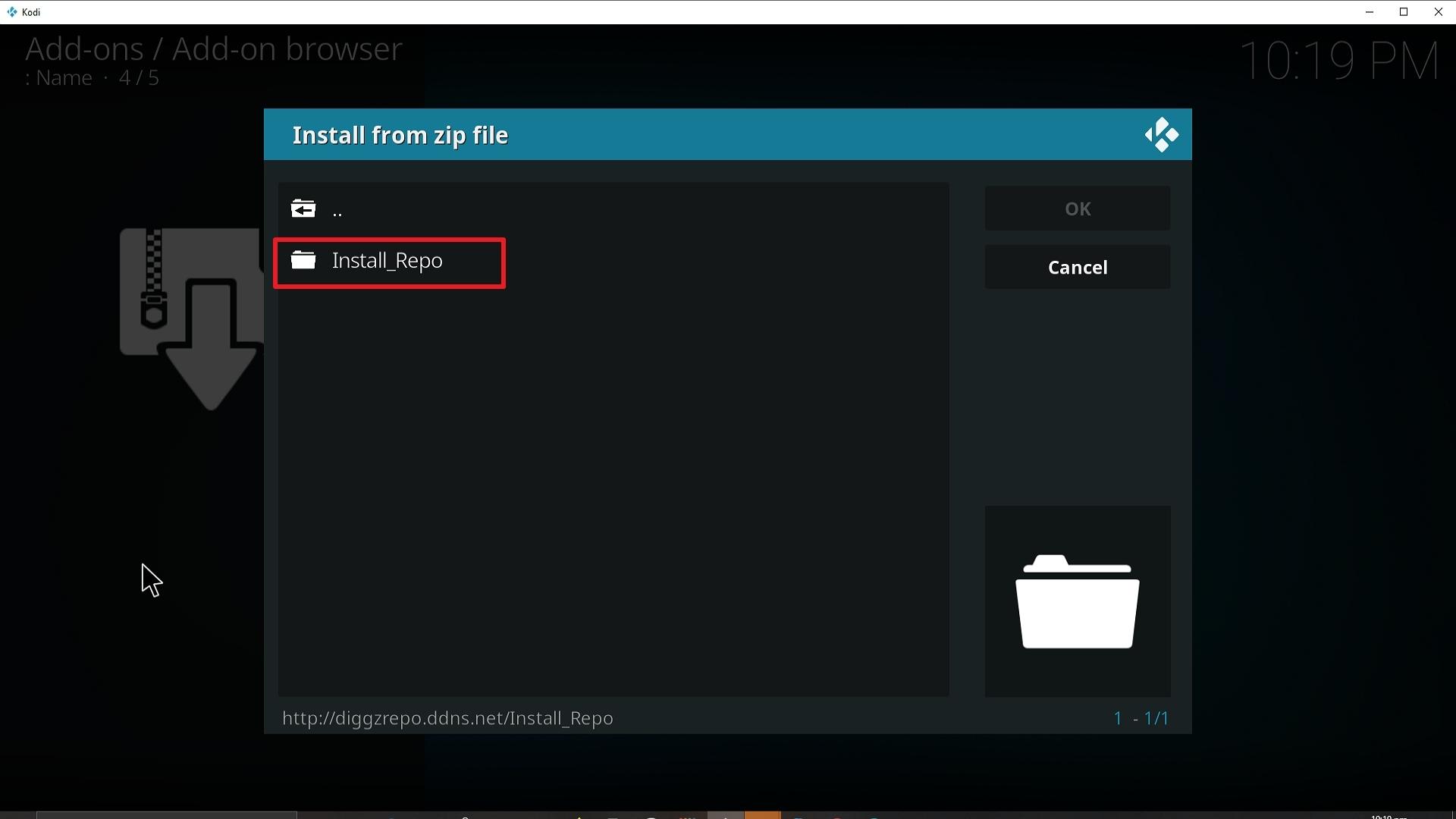 Step 18 Installing Diggz Xenon addon on Kodi