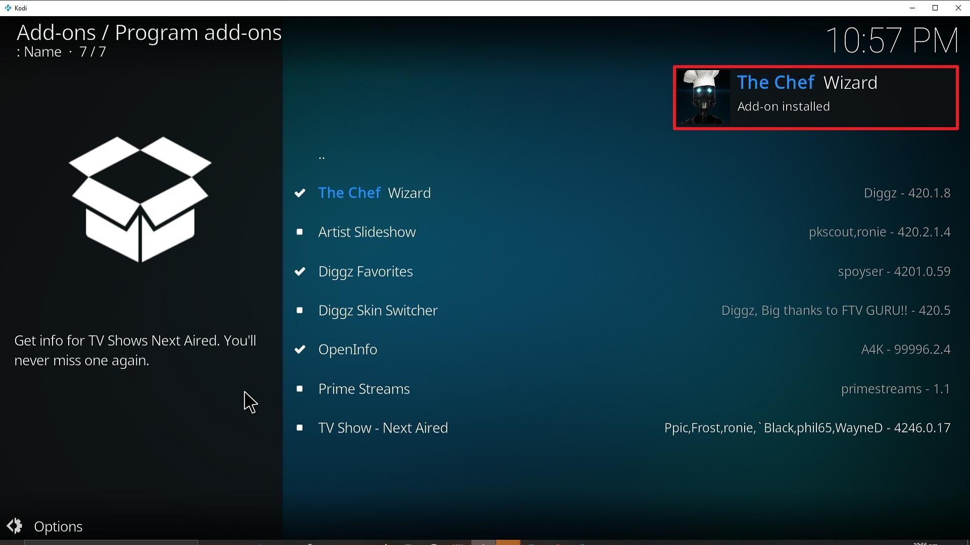 Step 25 Installing Diggz Xenon addon on Kodi