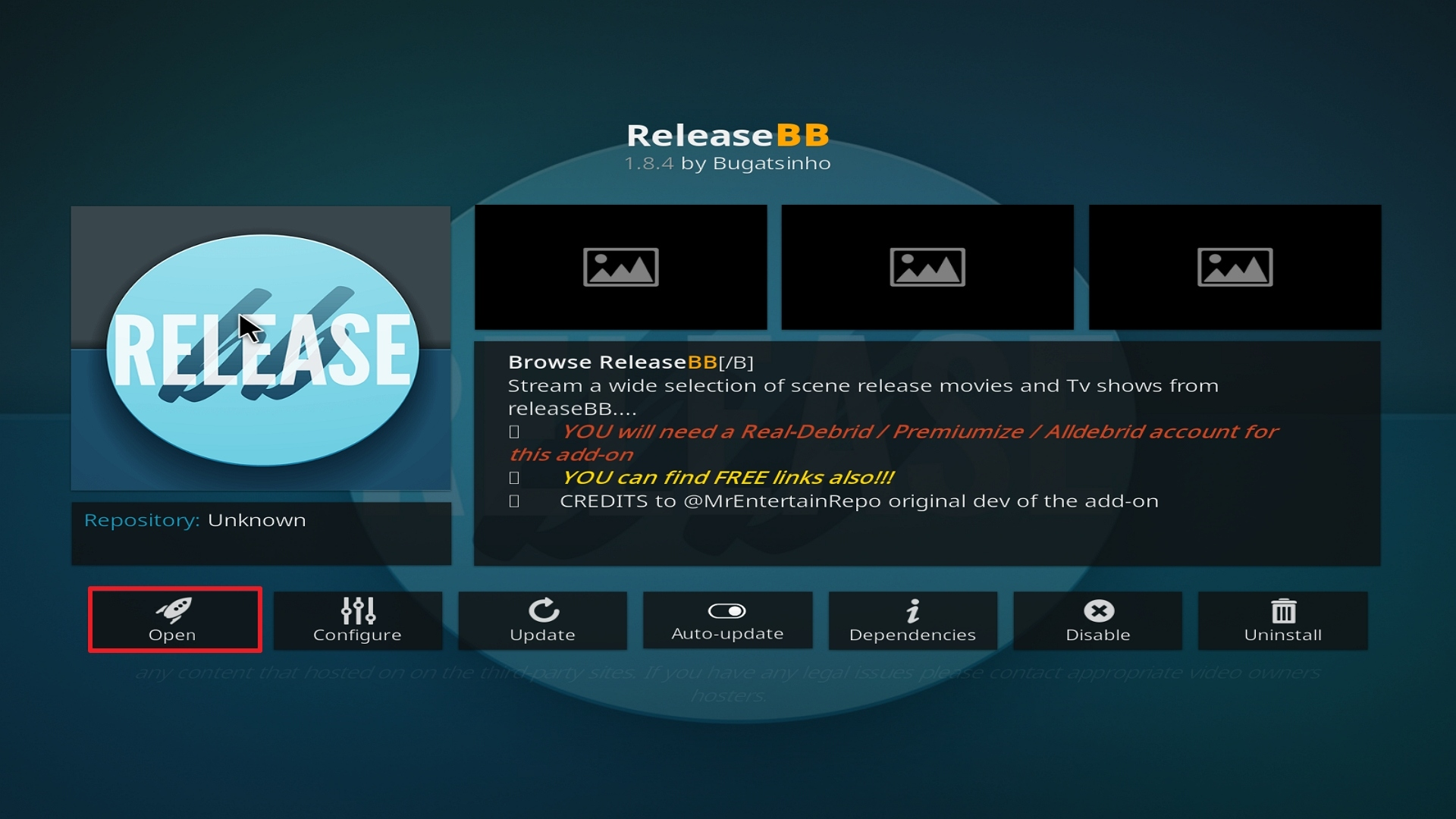 Step 26 Installing Release BB on Kodi