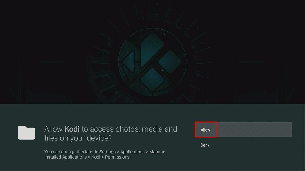 kodi allow access to files