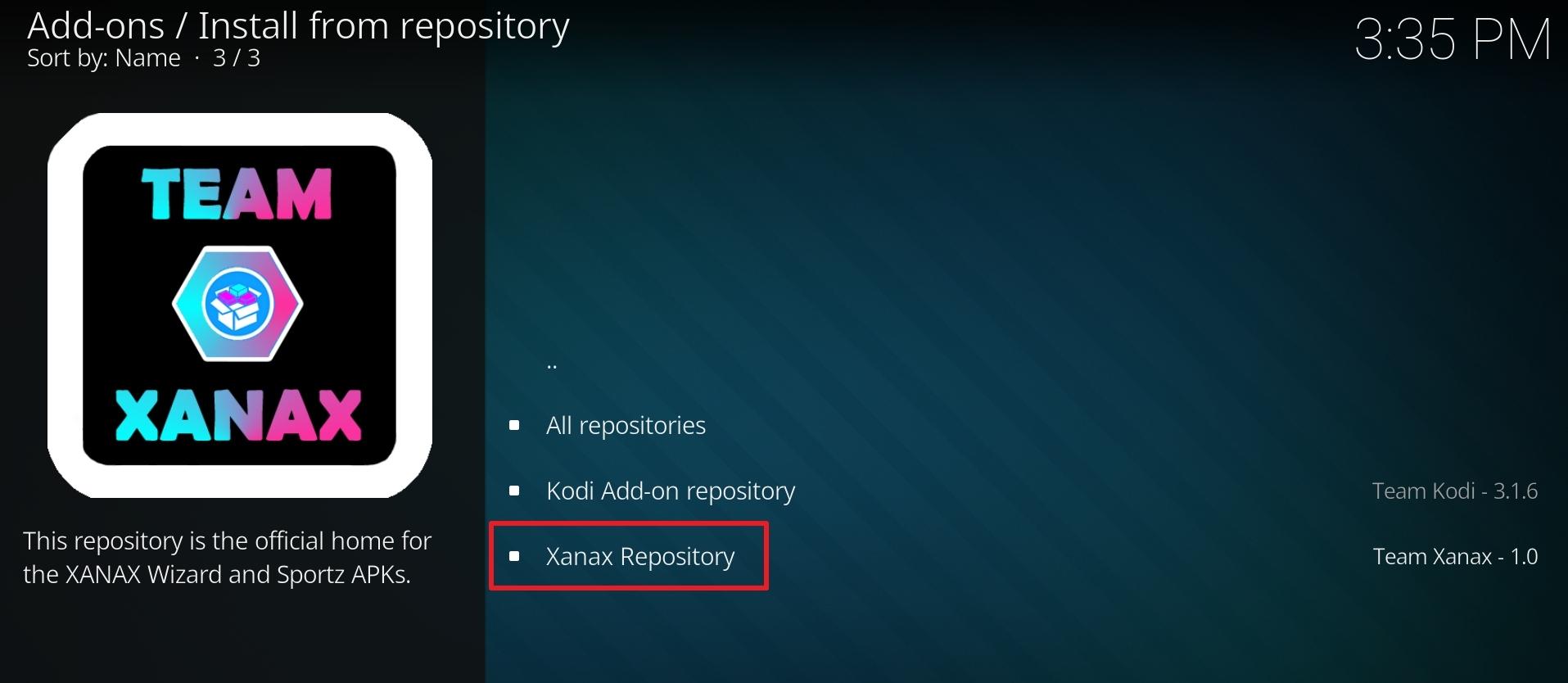 Install Xanax Build