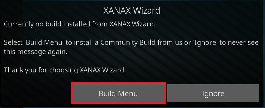 click on build menu