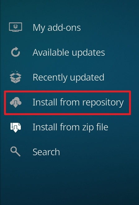 click on install from repository