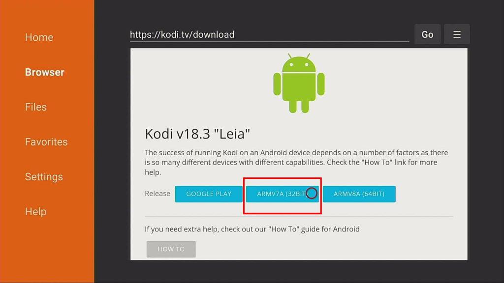 kodi 32 bit arm download on firestick