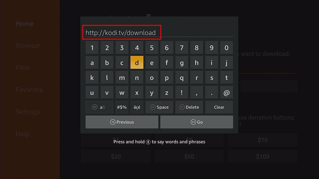 type url in downloader
