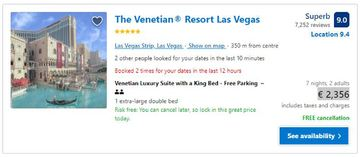 price booking a hotel with a vpn