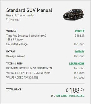 enterprise car rental price uk