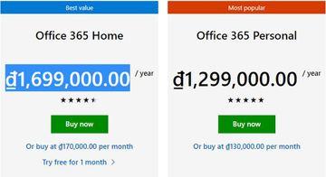 microsoft office price vietnam