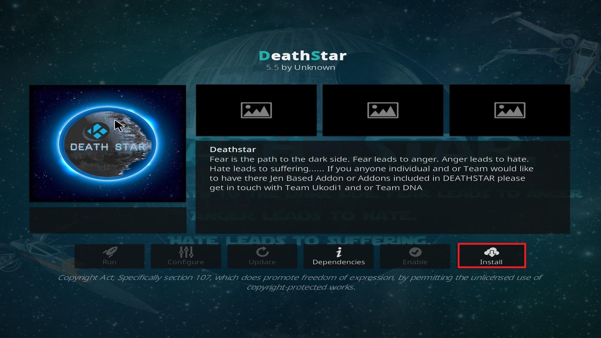 Destiny of Deathstar install step 23