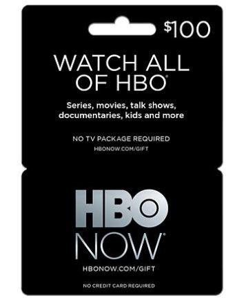 hbo now gift card