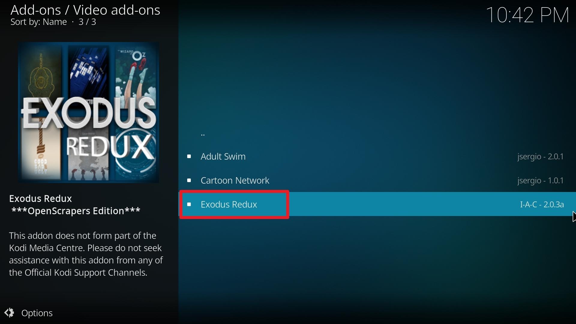 exodus redux install step 22