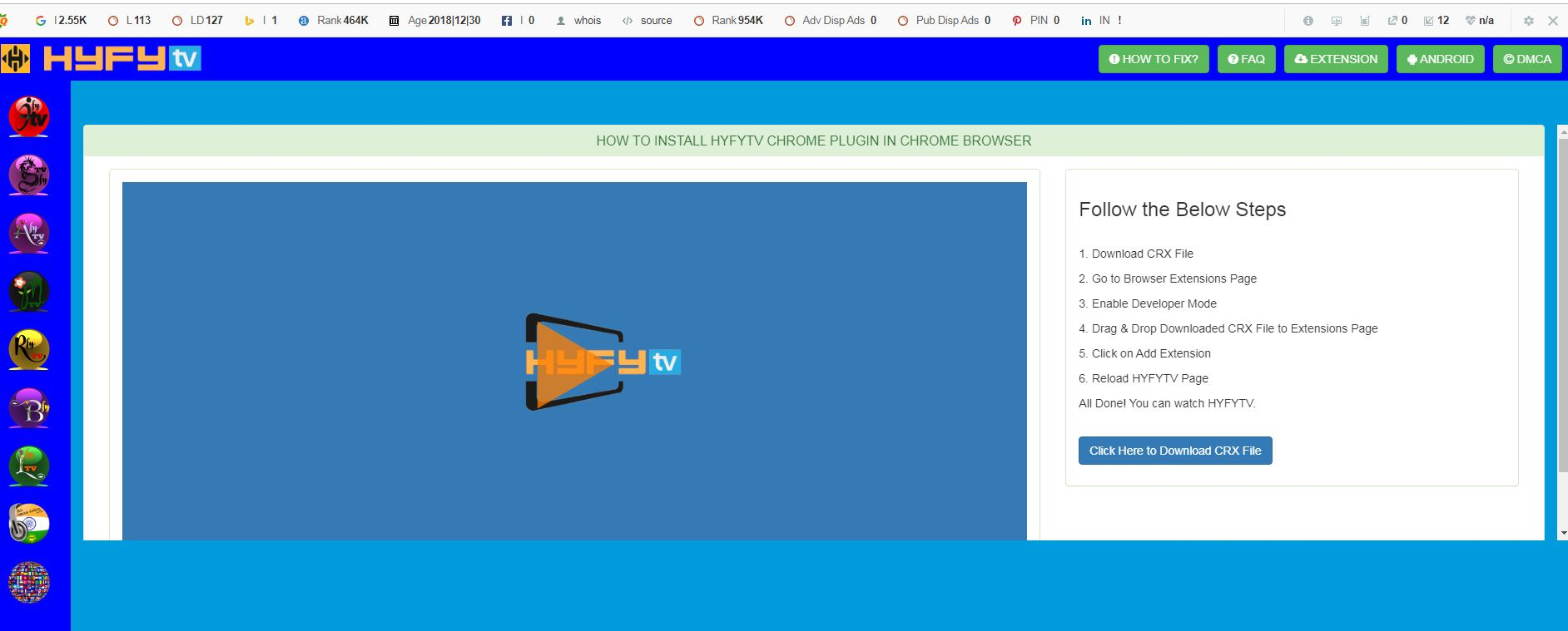 HYFY TV Website Image