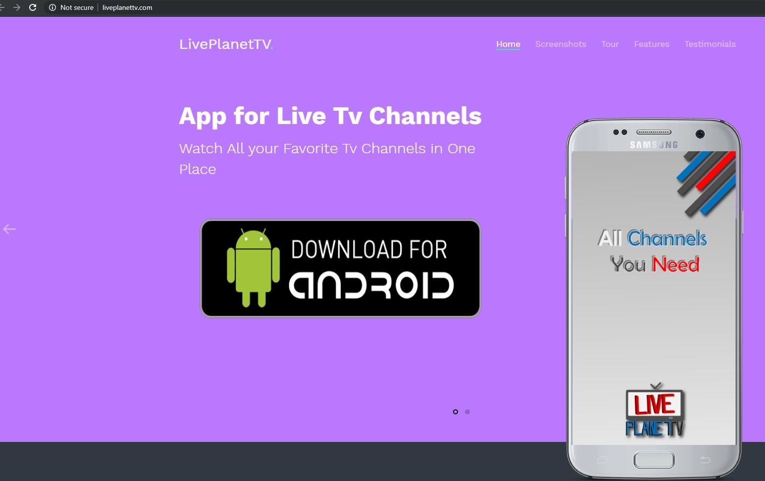 Liveplanet TV Website