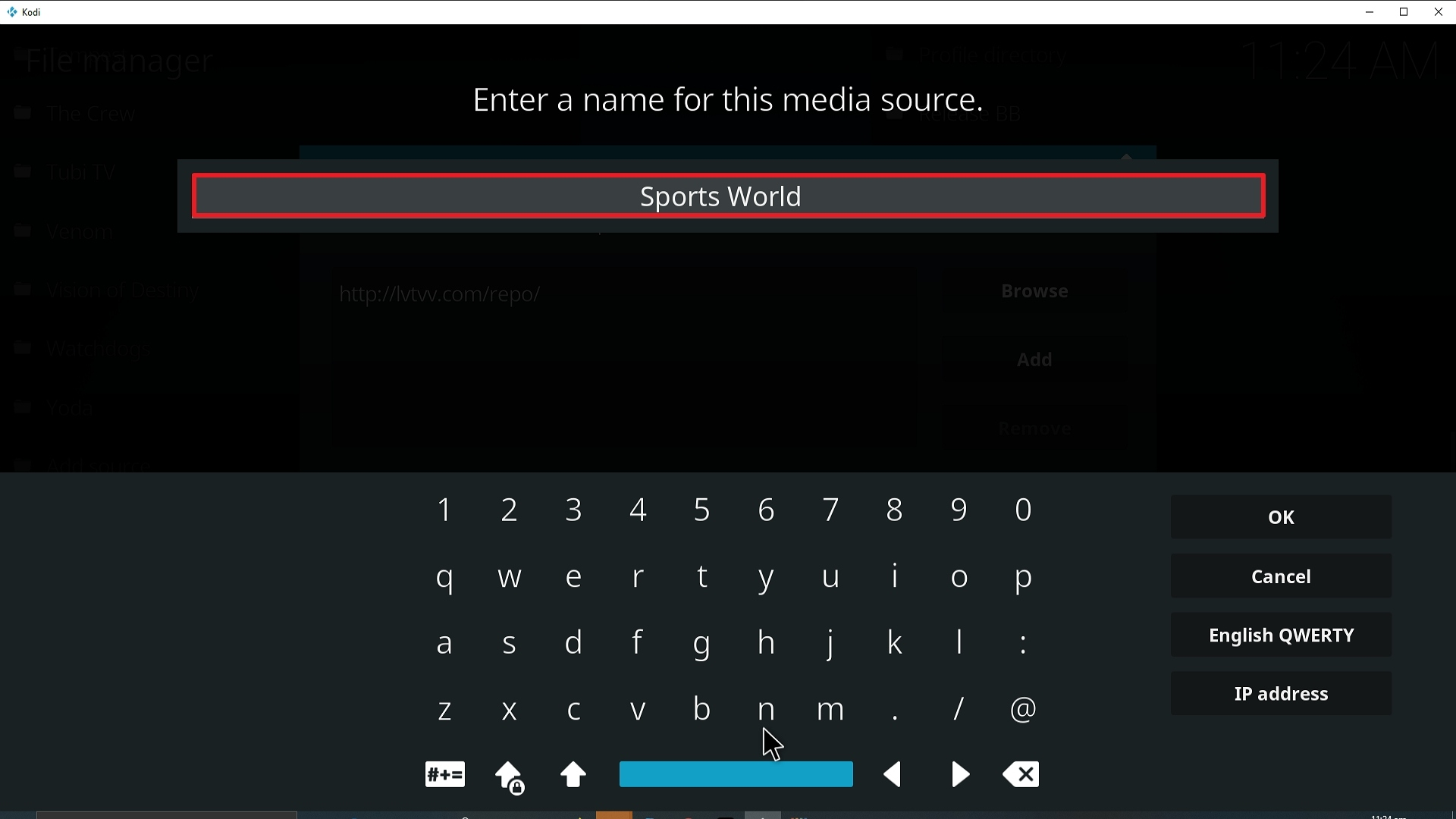 Step 12 Installing Sports World addon on Kodi