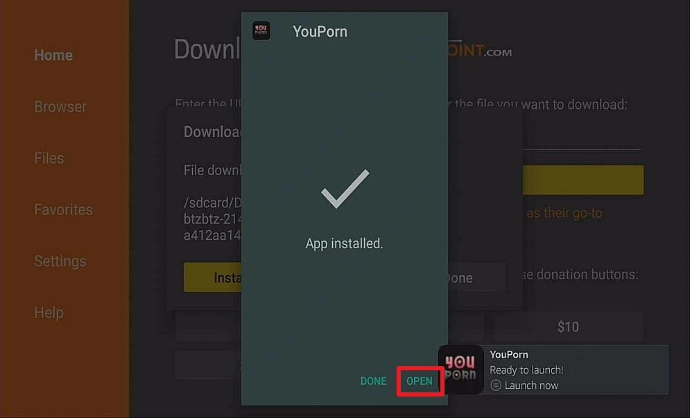 Step 14 Install YouPorn on Firestick
