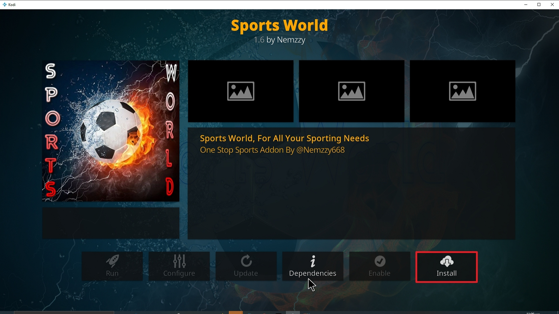 Step 23 Installing Sports World addon on Kodi