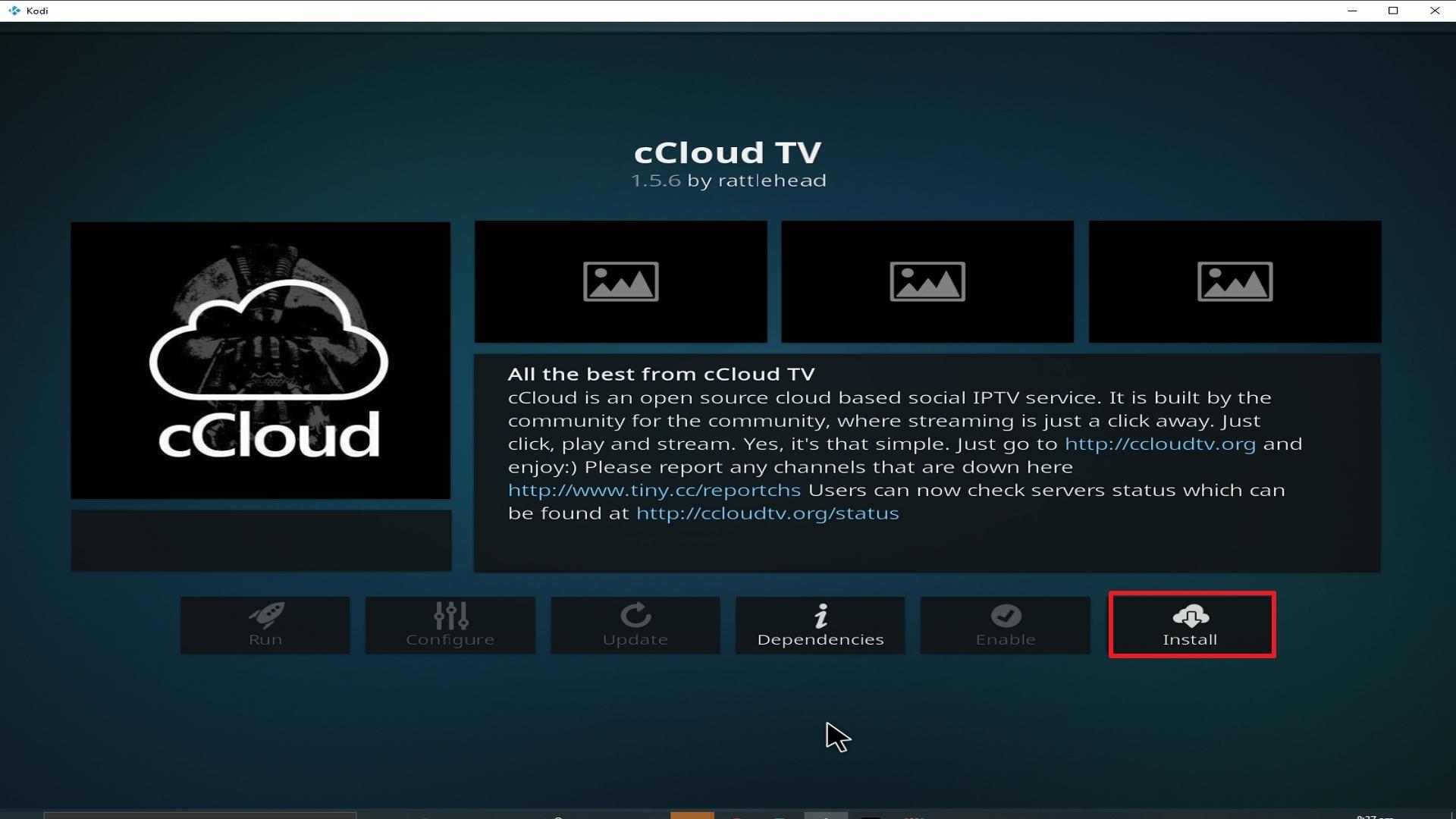 Step 23 Installing cCloud TV addon on Kodi