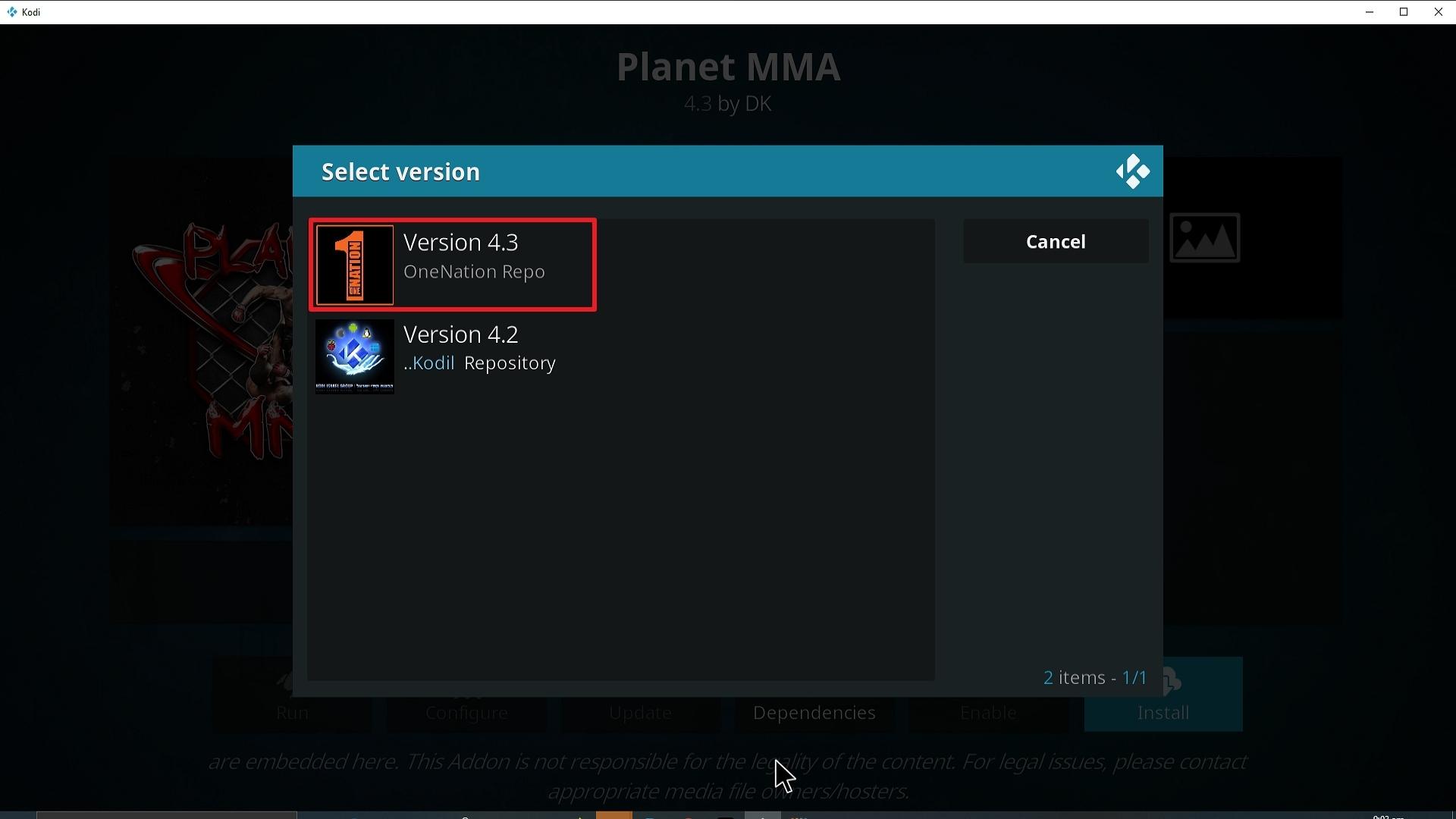Step 25 Installing Planet MMA addon on Kodi