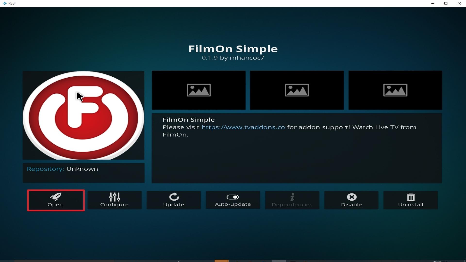 Step 26 Installing Film on Simple addon on Kodi