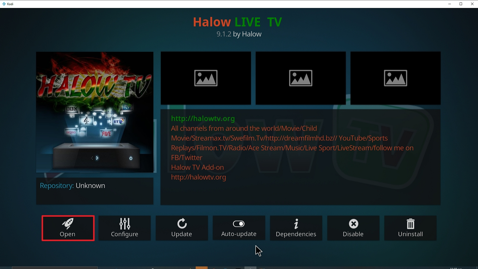 Step 26 Installing Halow TV addon on Kodi