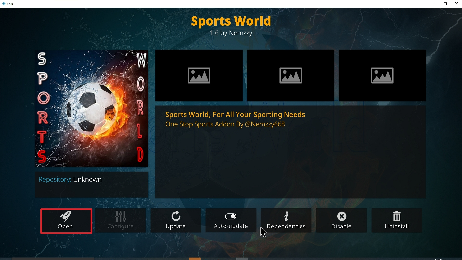 Step 26 Installing Sports World addon on Kodi