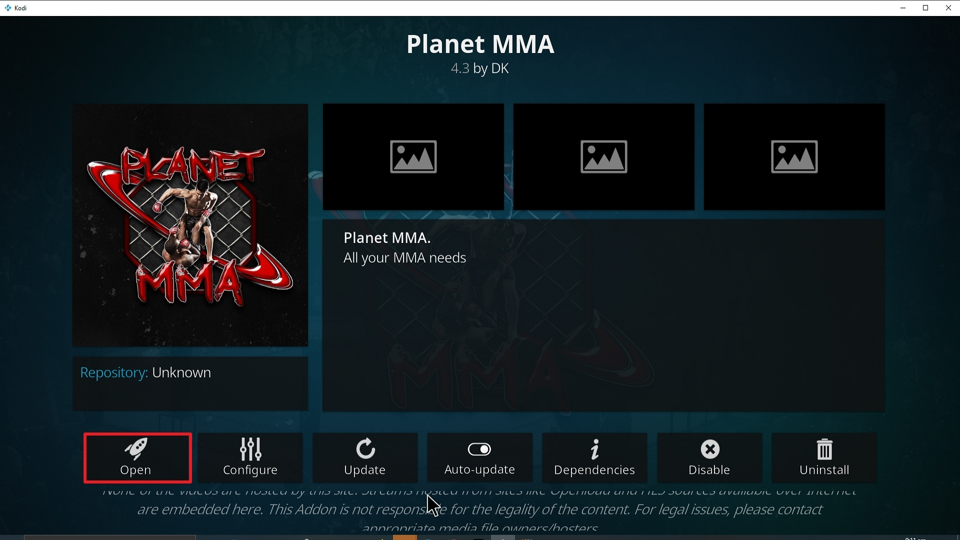 Step 28 Installing Planet MMA addon on Kodi