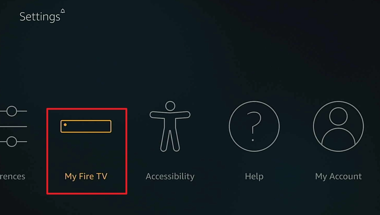 firestick click on my fire tv