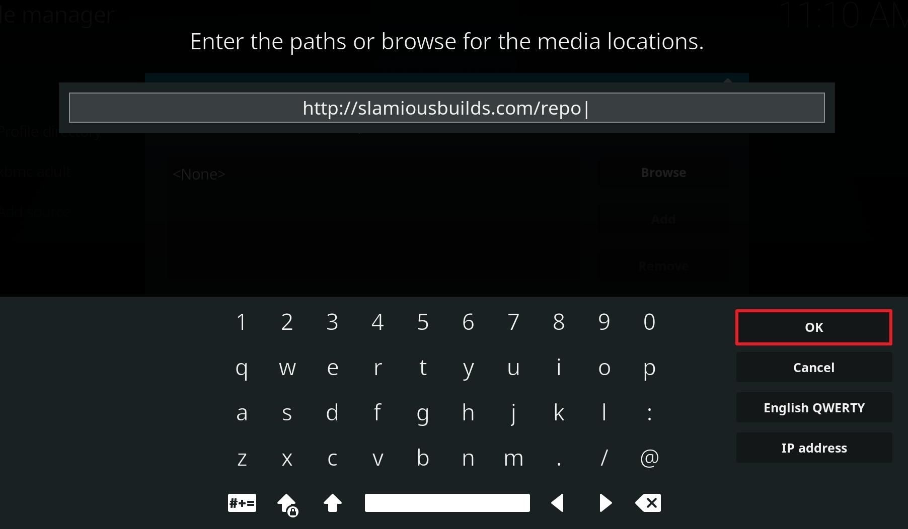 install slamious kodi build step 10