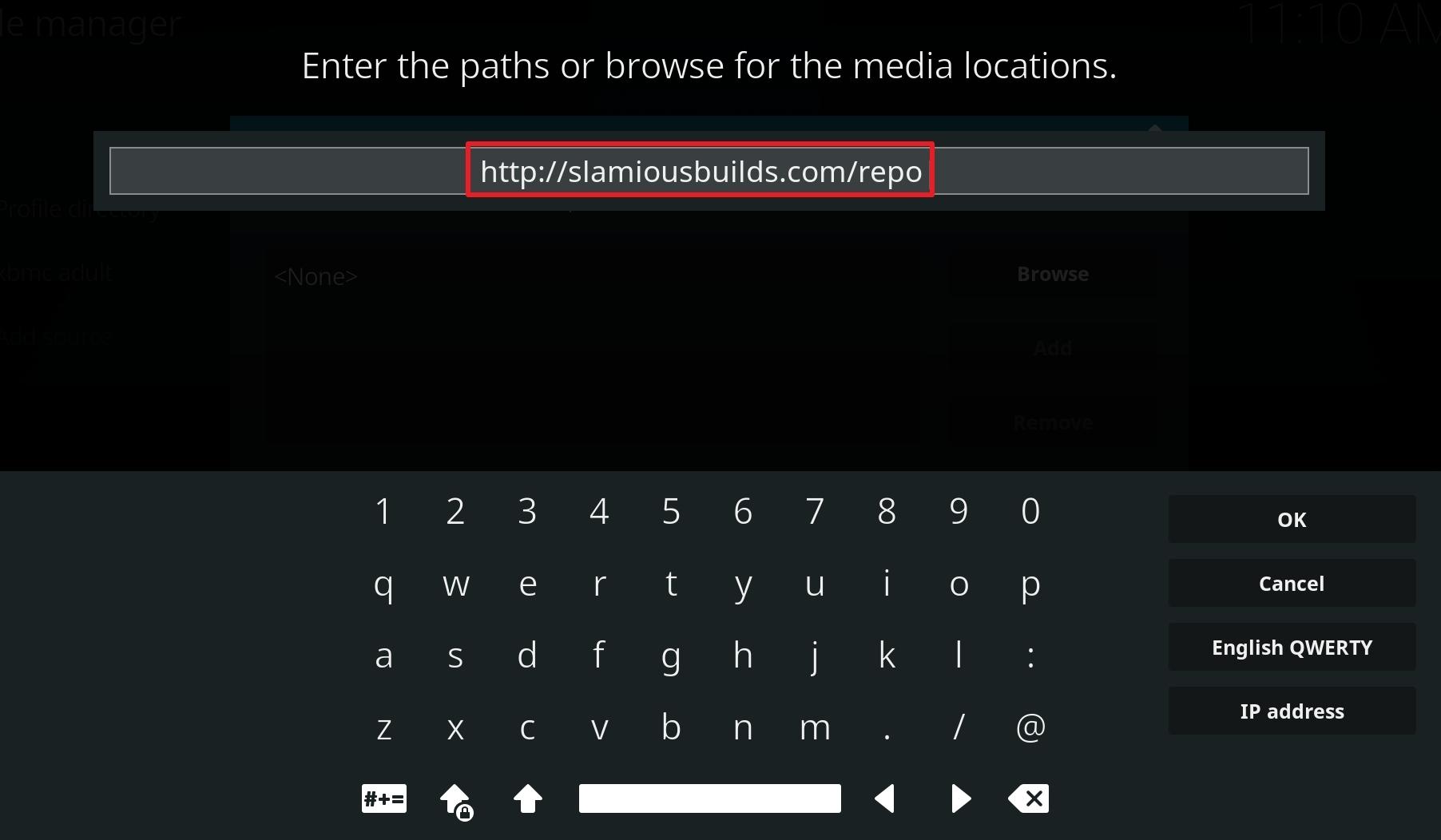 install slamious kodi build step 9