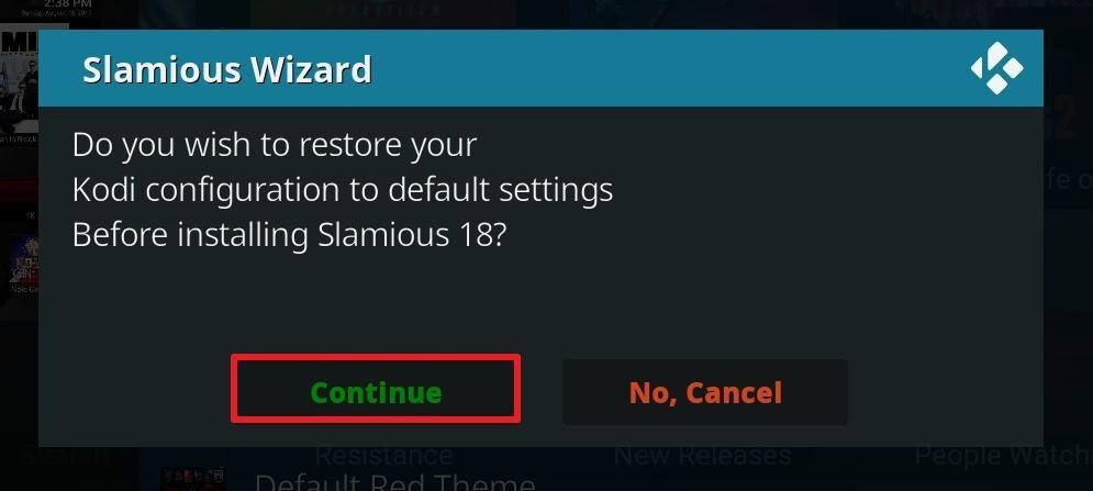 slamious kodi build install step 25