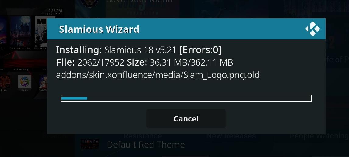 slamious kodi build install step 27