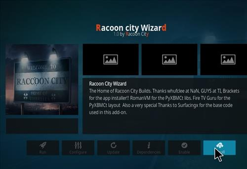 Install Racoon City Build