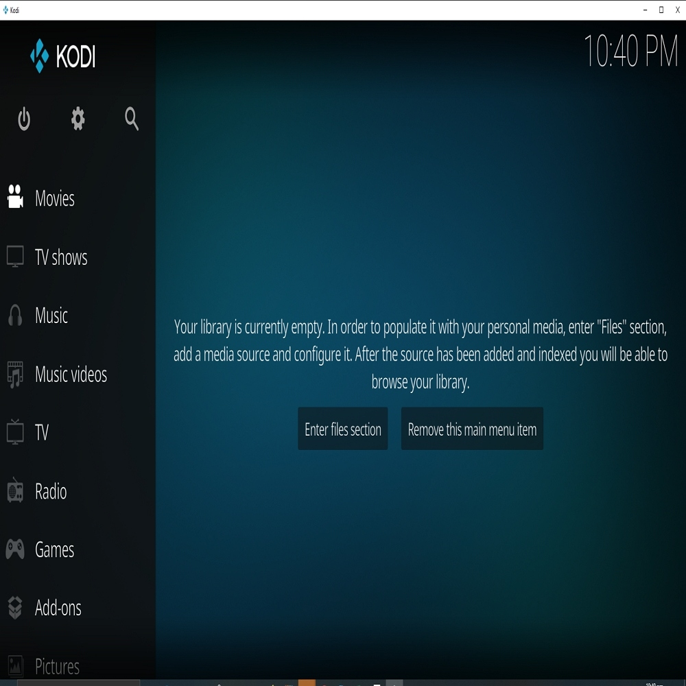 Step 1 Adding Pictures to Kodi