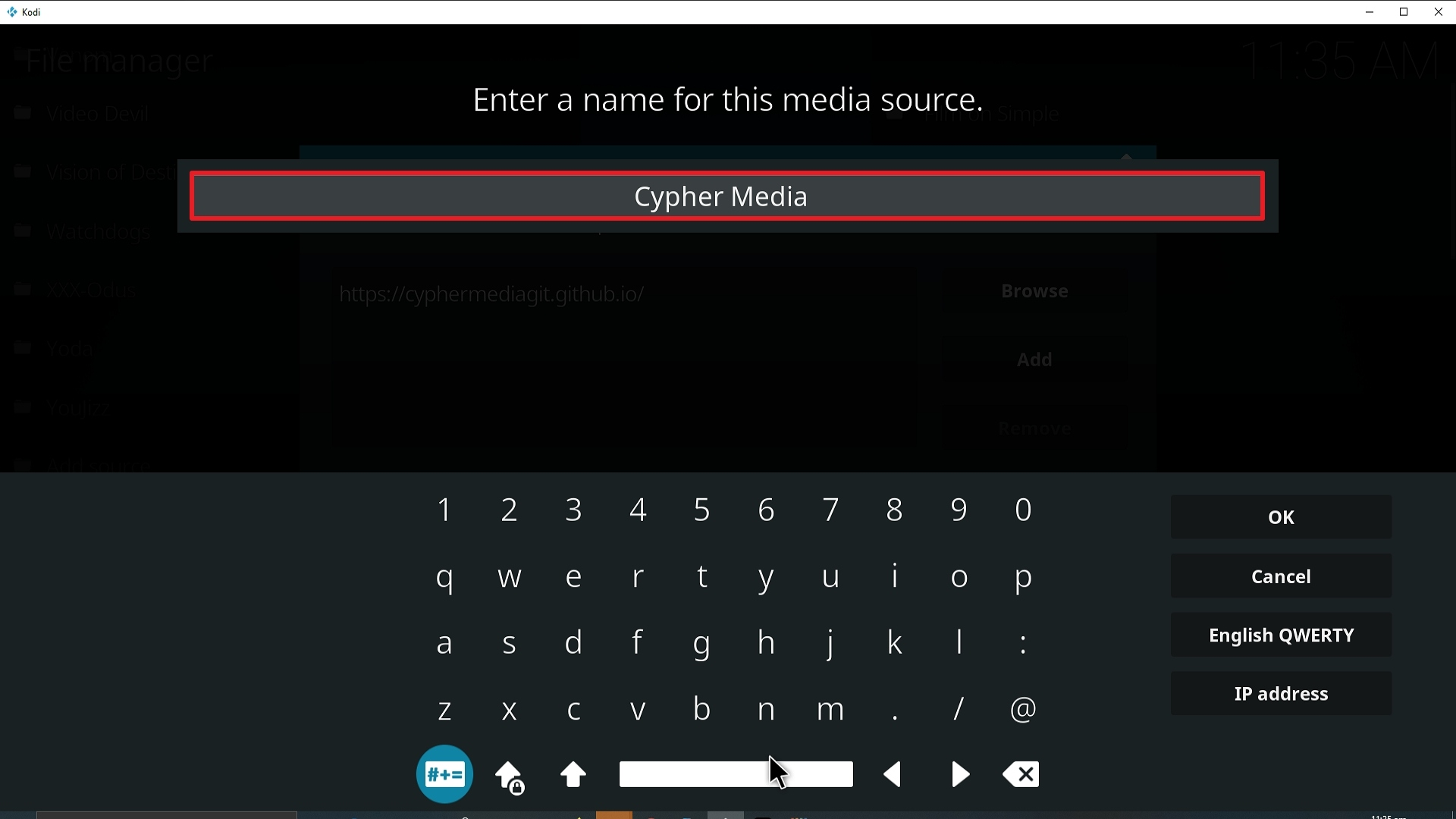 Step 12 Installing Cypher Media Kodi addon on Kodi