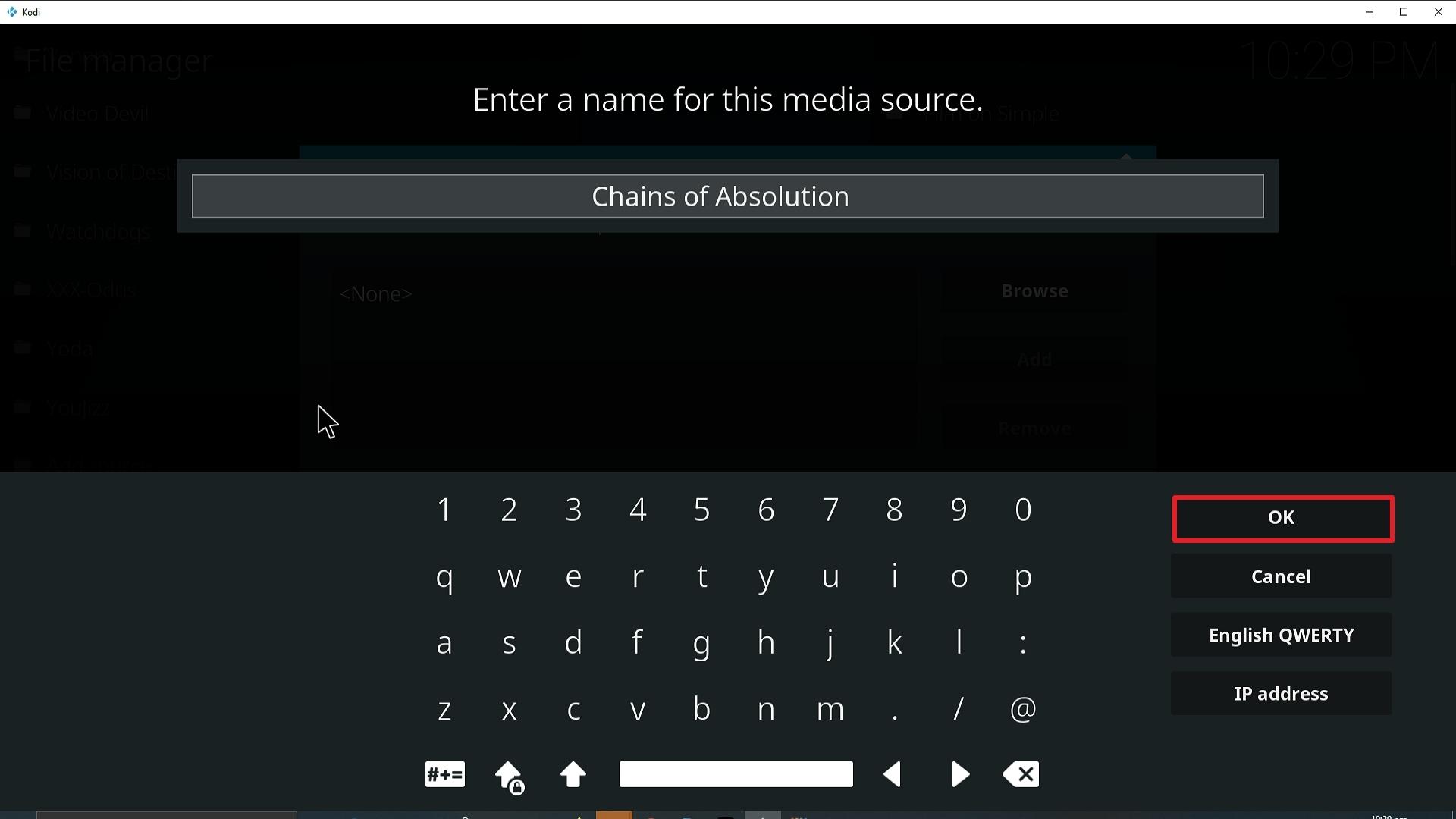 Step 13 Installing Chains of Absolution Kodi addon on Kodi