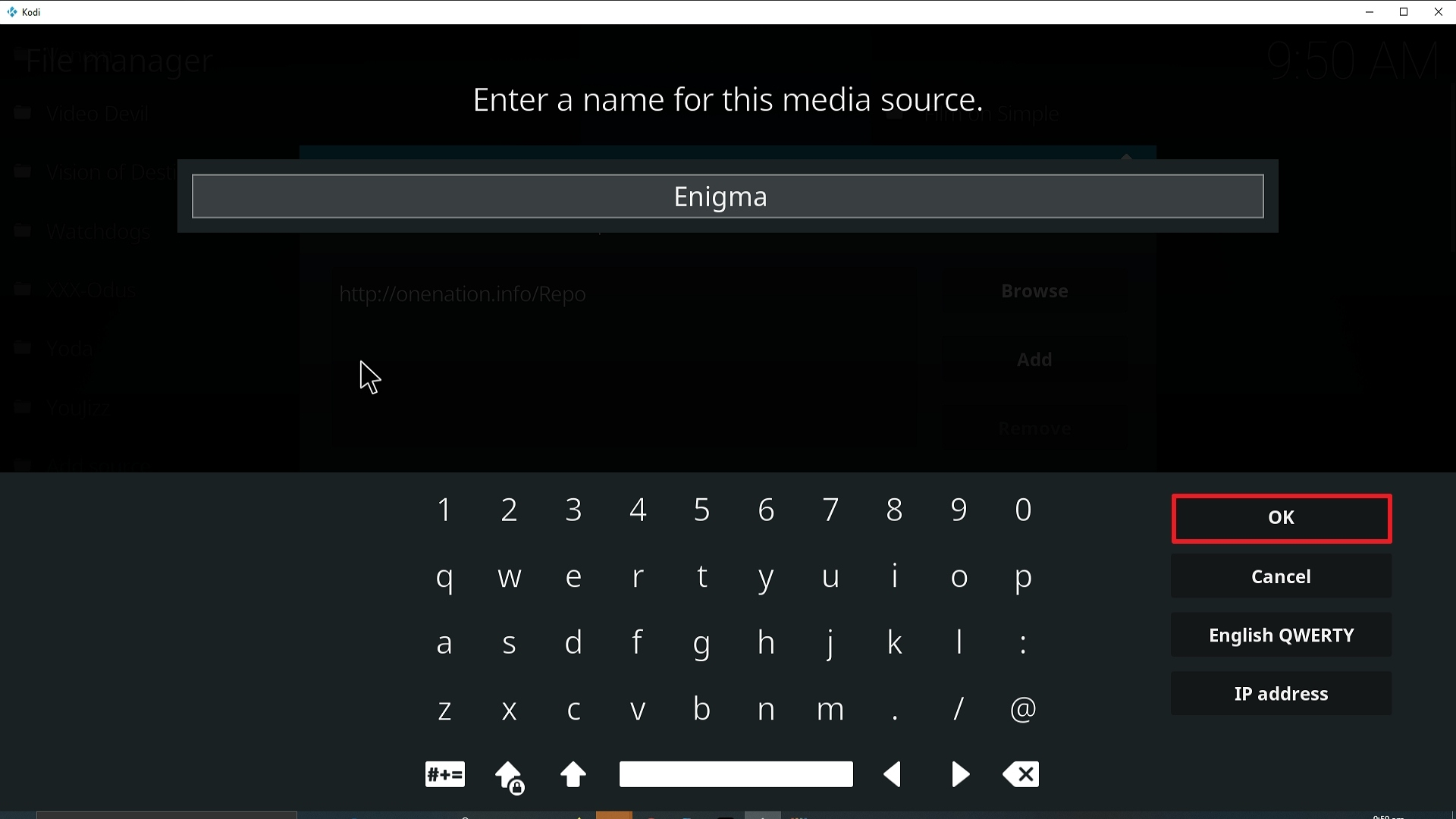 Step 13 Installing Enigma Kodi addon on Kodi