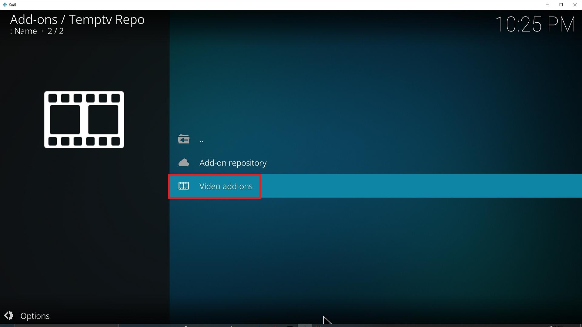 Step 21 Installing TempTV Kodi addon on Kodi