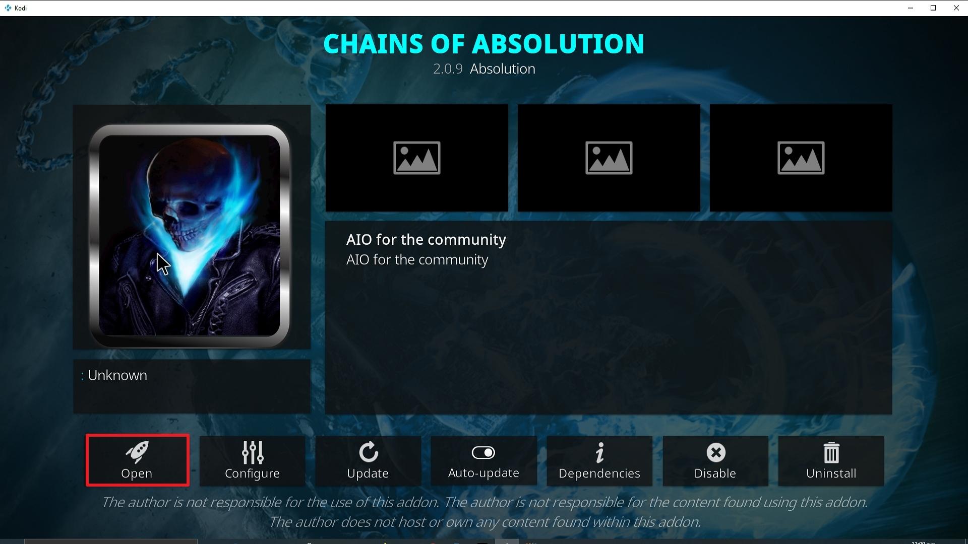 Step 27 Installing Chains of Absolution Kodi addon on Kodi