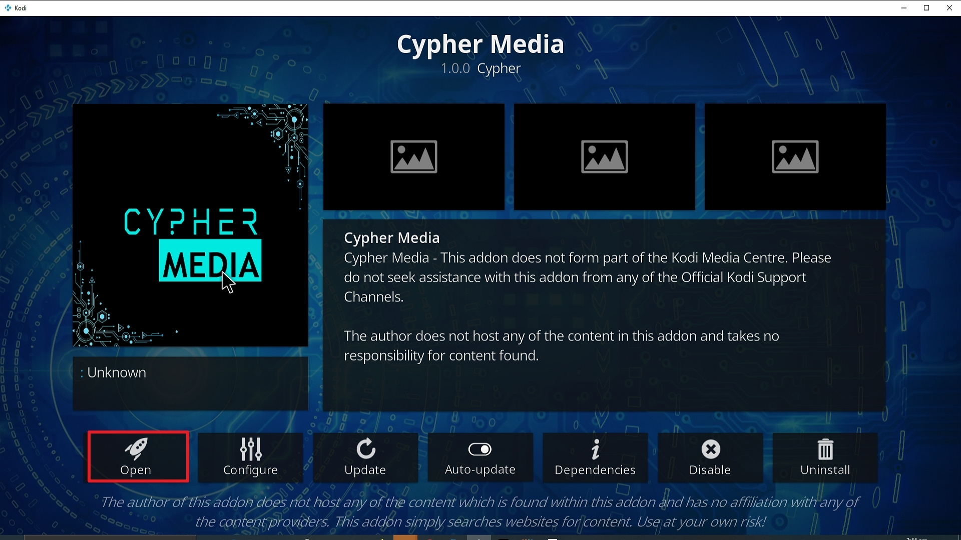 Step 27 Installing Cypher Media Kodi addon on Kodi