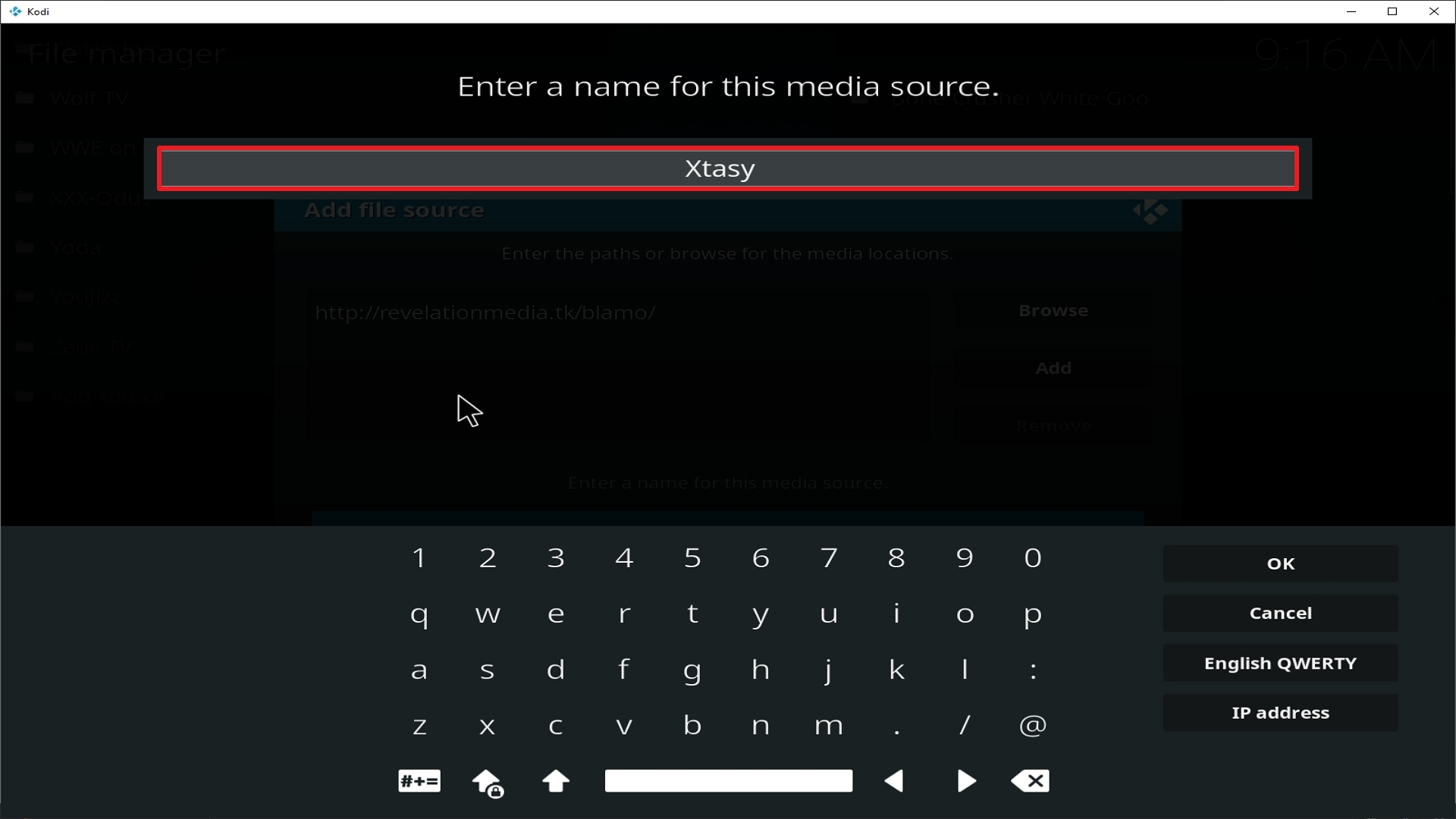 Step 12 Installing Xtasy addon on Kodi