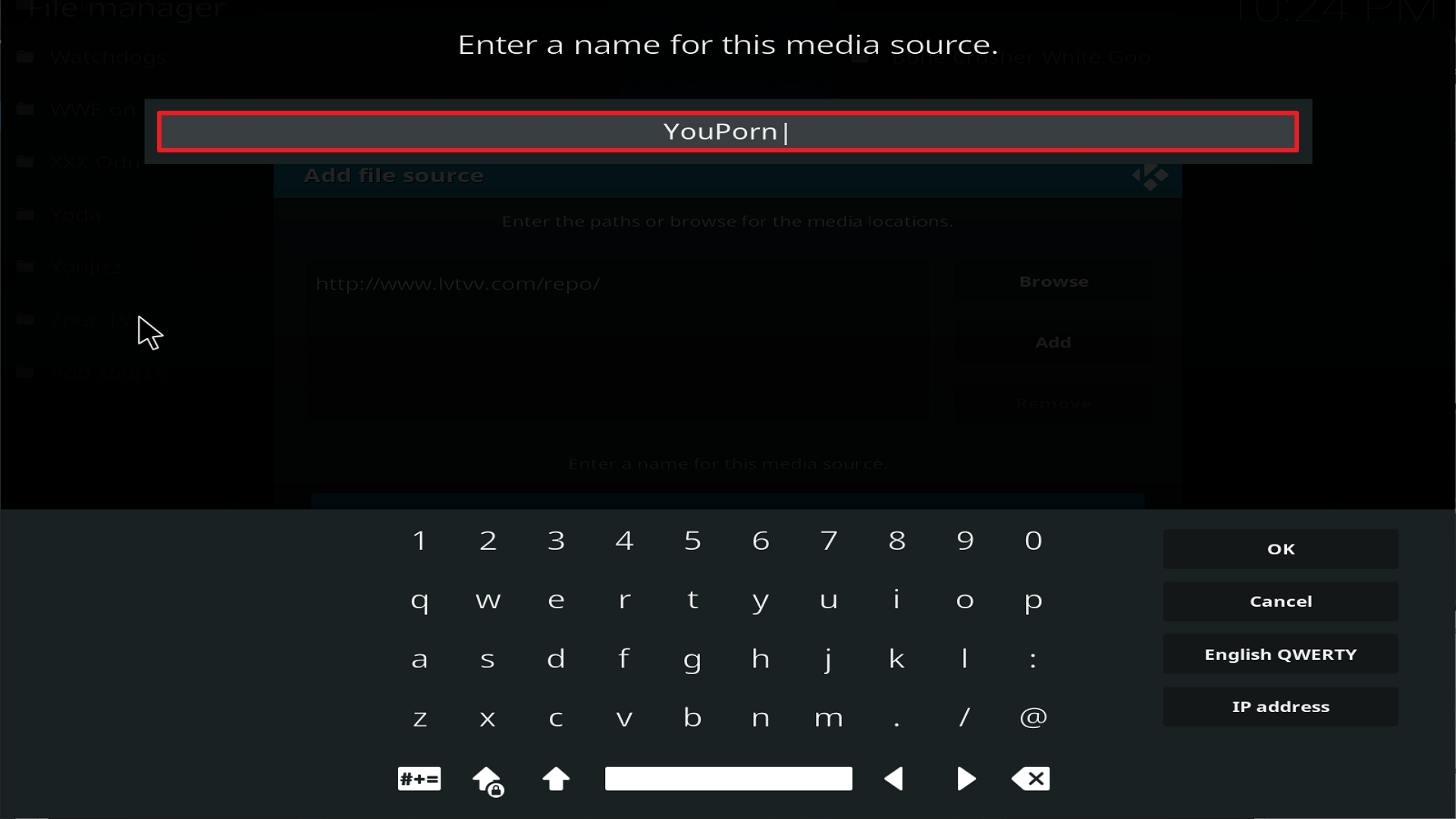 Step 12 Installing Youporn addon on Kodi