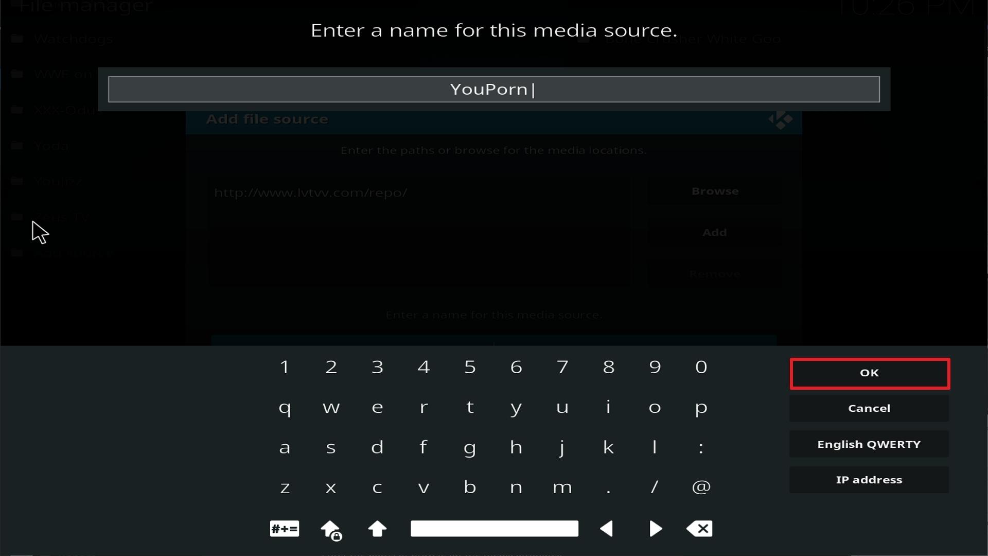 Step 13 Installing Youporn addon on Kodi