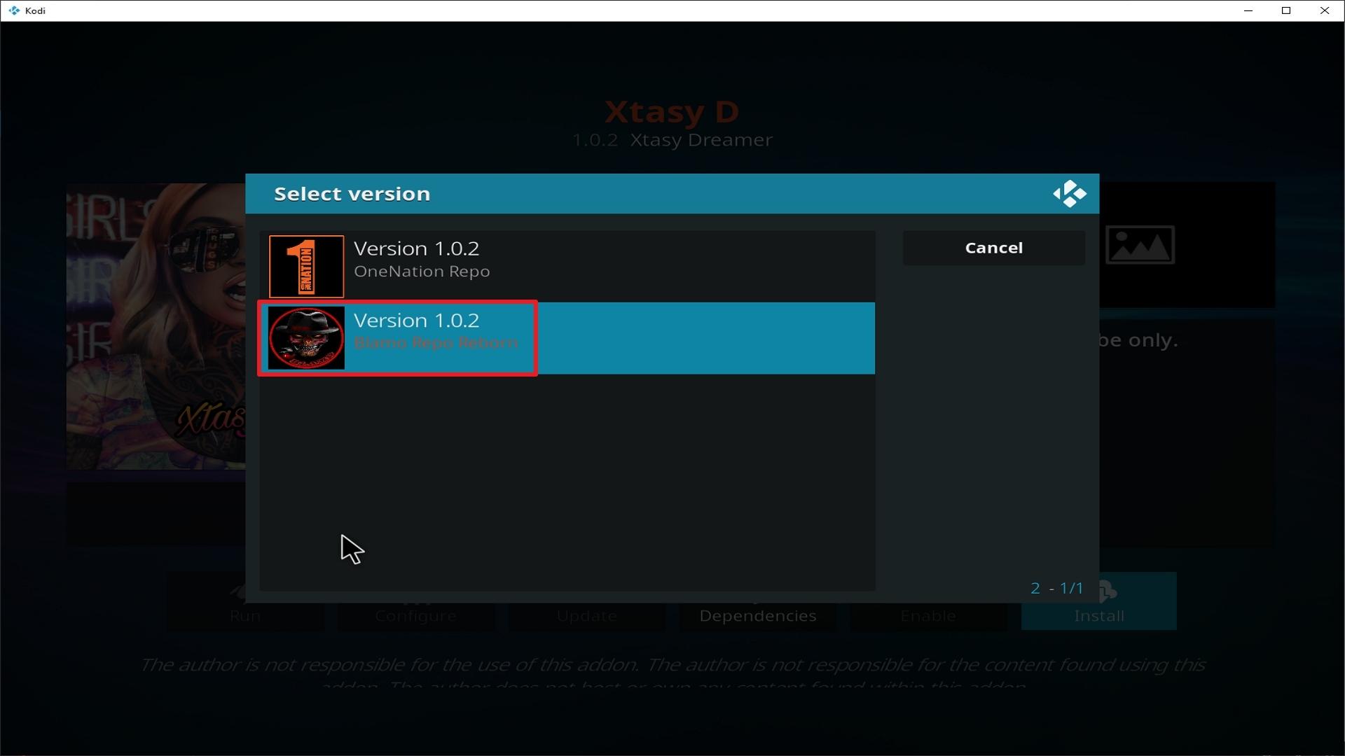 Step 24 Installing Xtasy addon on Kodi