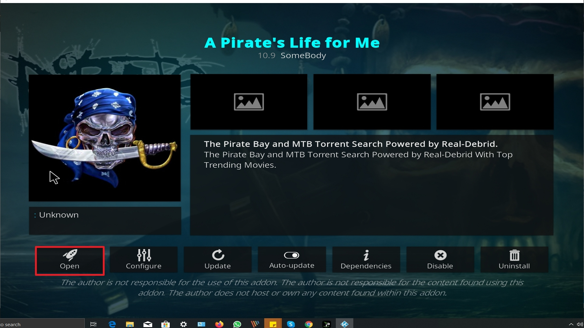 Step 26 Installing A Pirate's Life For Me addon on Kodi