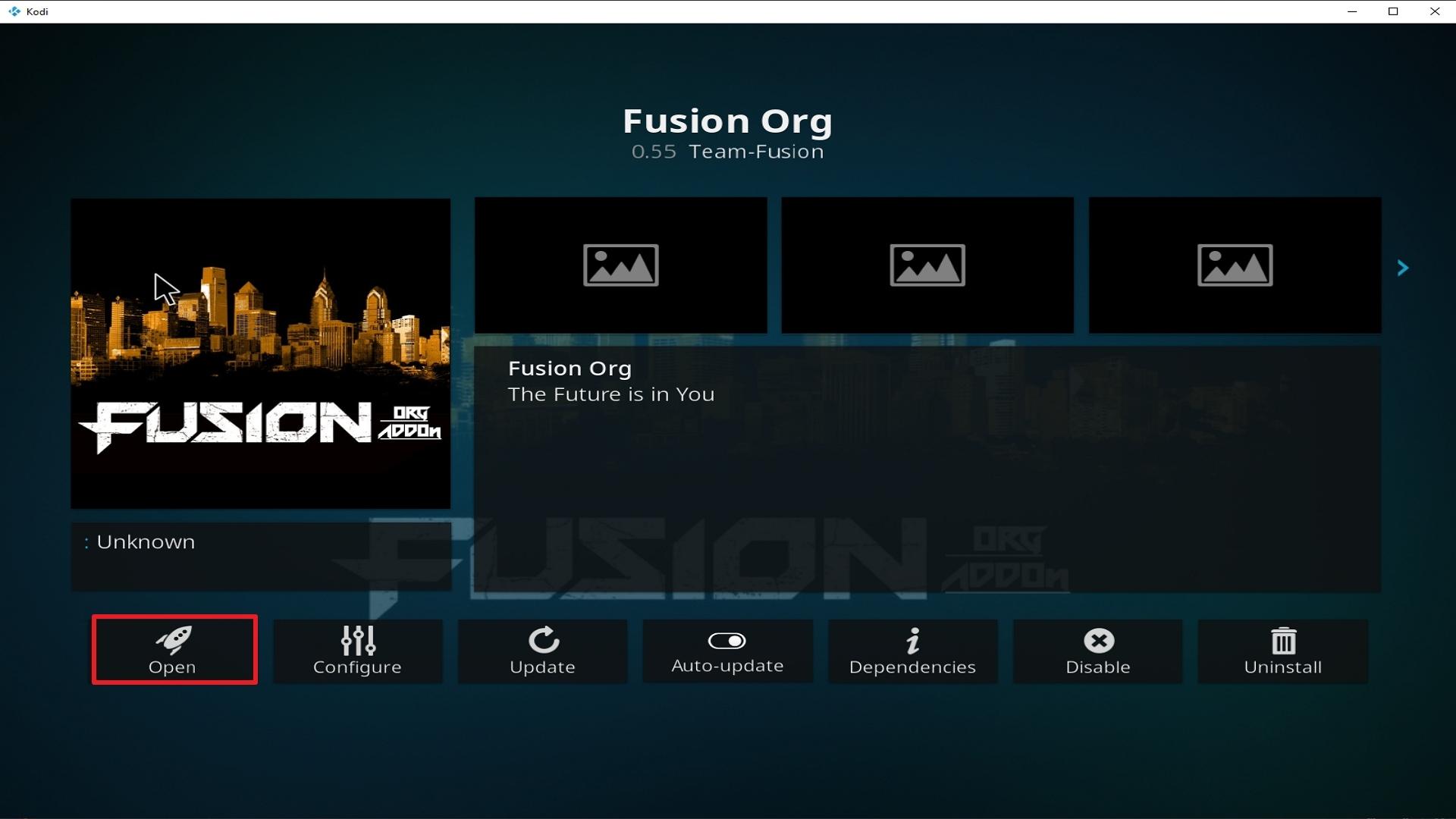 Step 26 Installing Fusion Org addon on Kodi
