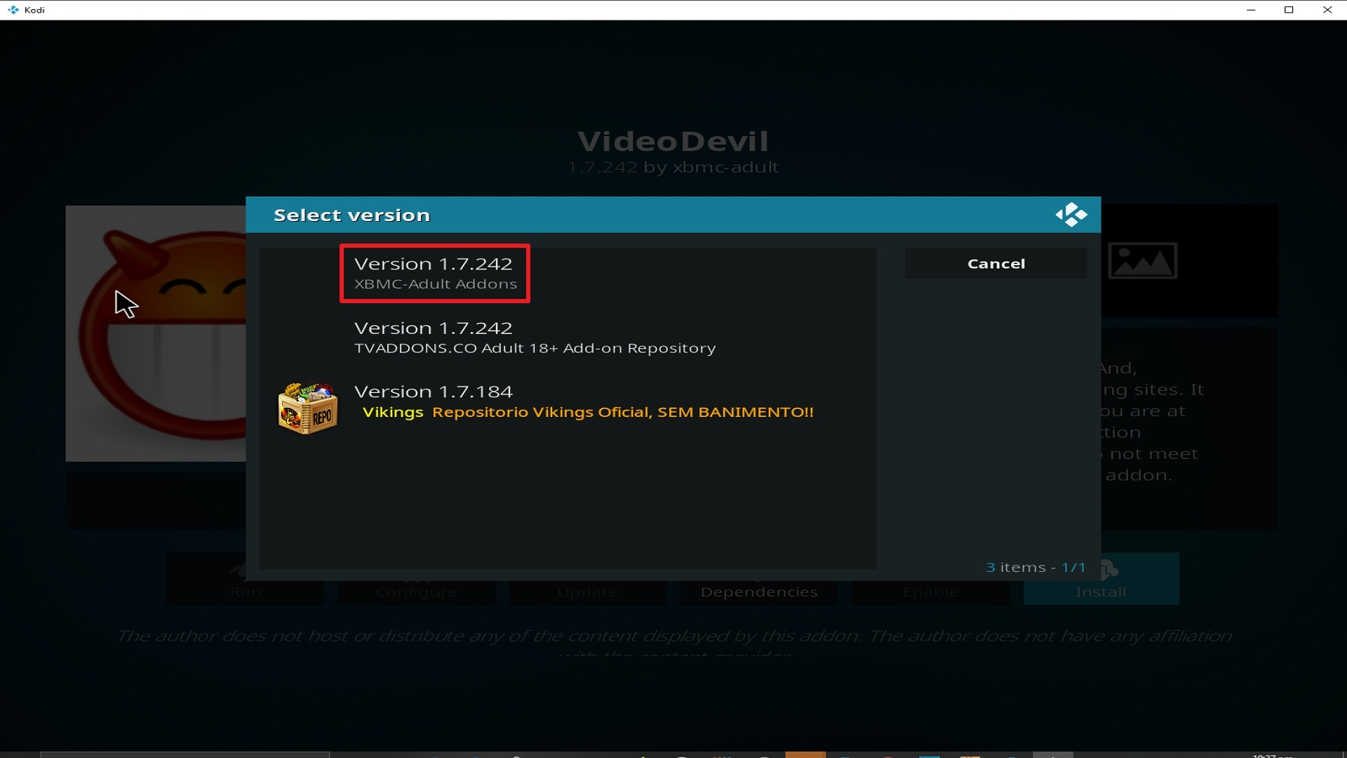 Step 26 Installing Video Devil Kodi addon on Kodi