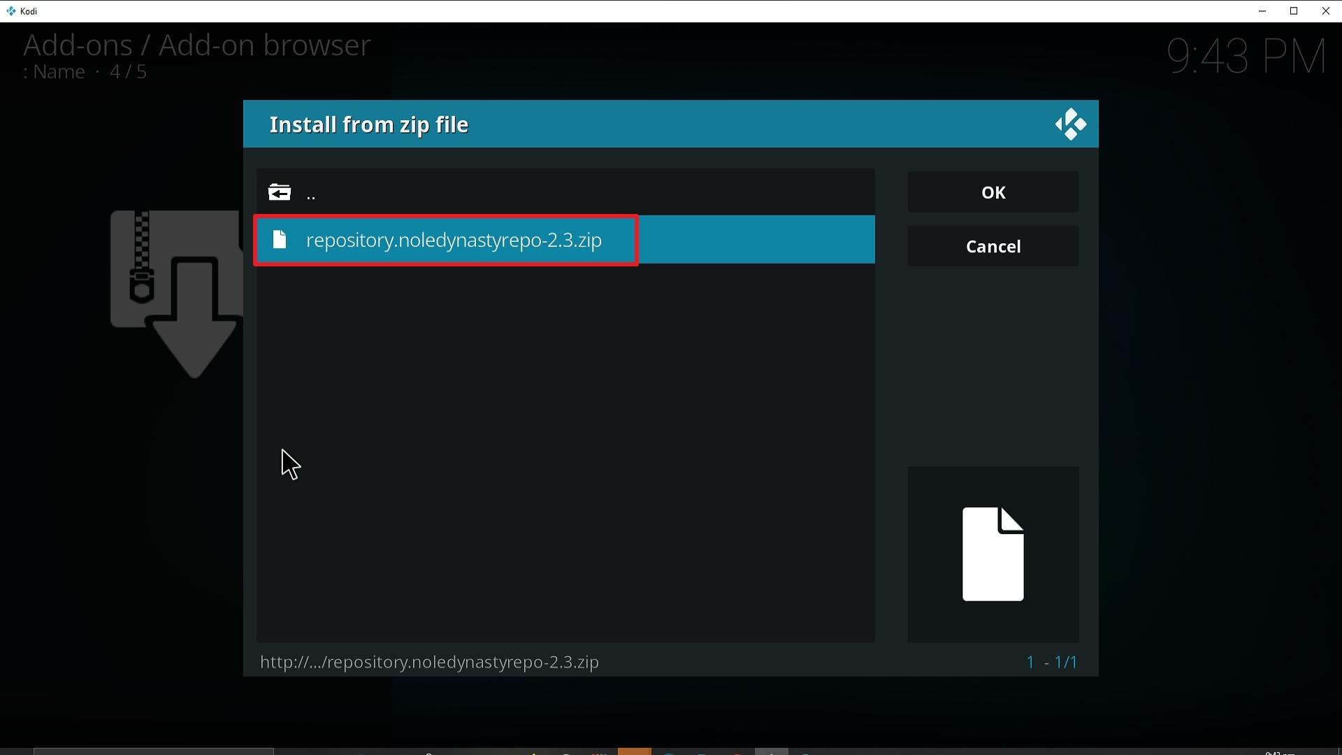 Step 18 Installing Apocalypse 720 addon on Kodi