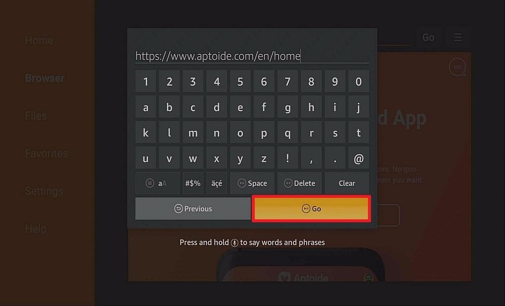 Step 12 Install Aptoide on Firestick